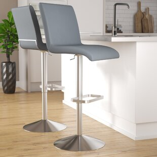Bluxome Adjustable Height Swivel Bar Stool
