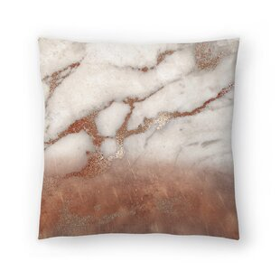 Luxury Metal and Luxury Marble Texture Throw Pillow