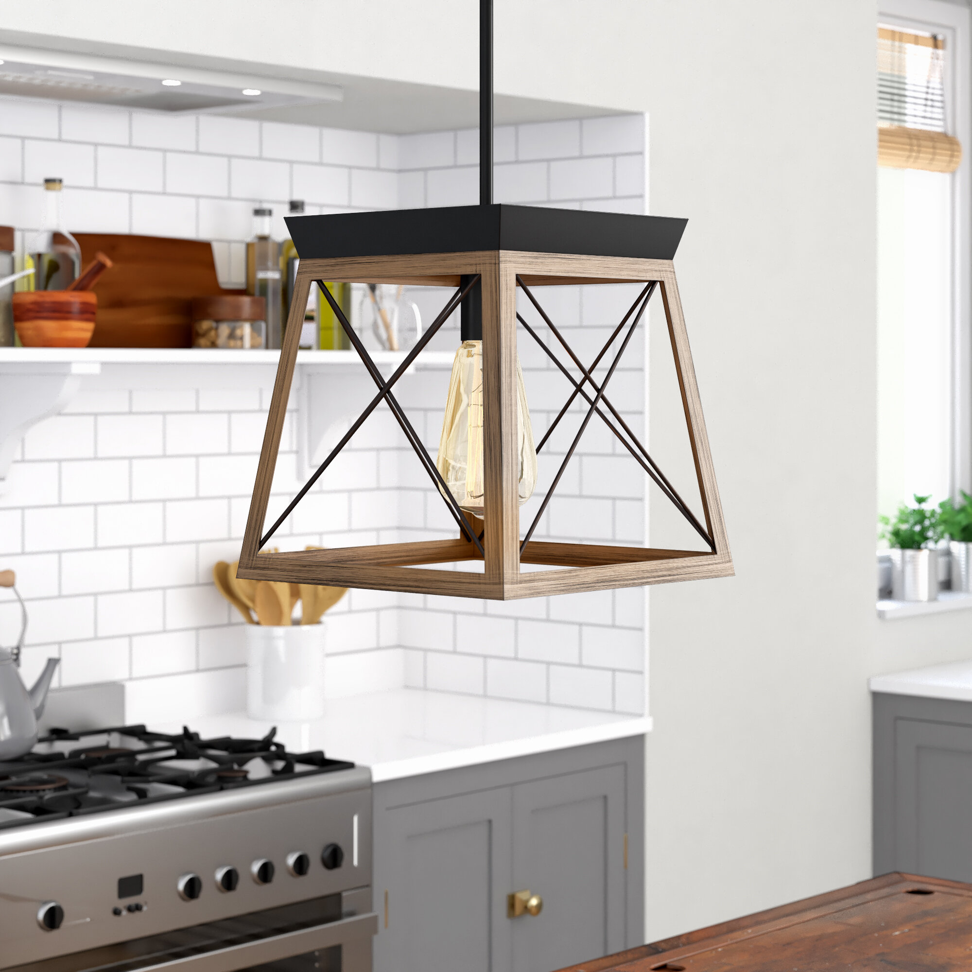 Rustic Pendant Lighting Free Shipping Over 35 Wayfair