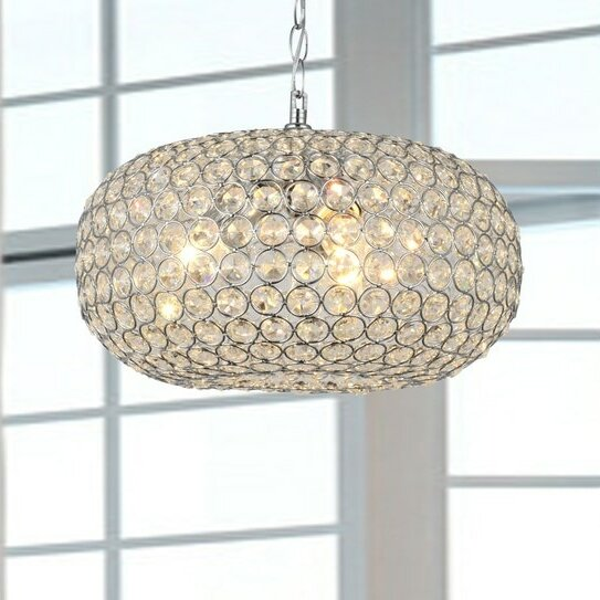 House Of Hampton Mckee 3 Light Crystal Chandelier & Reviews by House Of Hampton