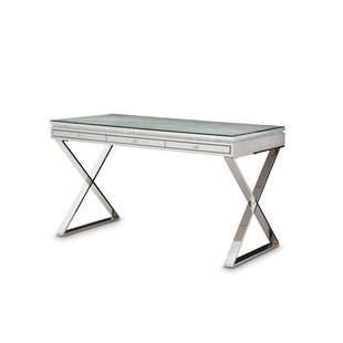 Melrose Plaza Glass Writing Desk