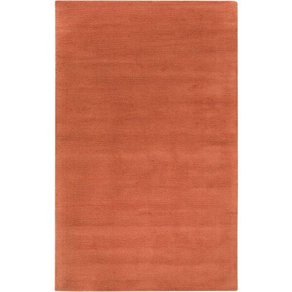 Allmodern Brunson Handmade Wool Burnt Orange Area Rug Reviews Wayfair