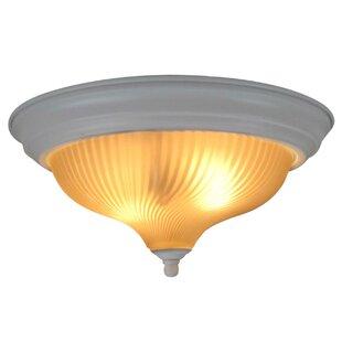 2-Light Flush Mount by Woodbridge Lighting