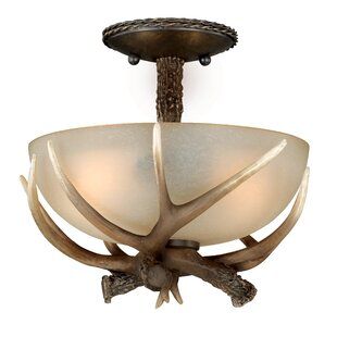 Loon Peak Port Chester 2-Light Semi Flush Mount