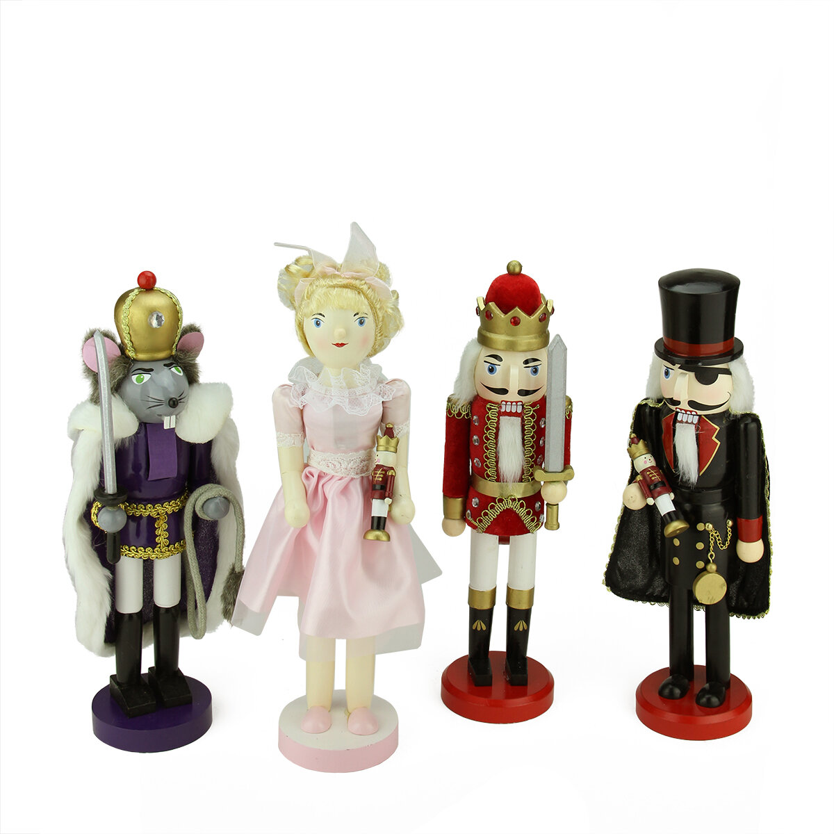 Northlight 4 Piece Decorative Wooden Nutcracker Suite Ballet ...