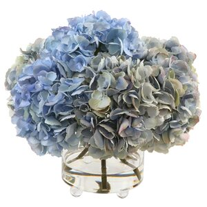 Hydrangea Bouquet in Glass Cylinder