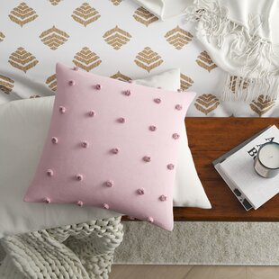 Aiden Cotton Jacquard Pom Pom Throw Pillow