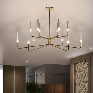 Everly Quinn Cheltenham 12-Light Candle Style Chandelier