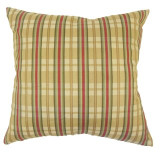 Jacobsen Traditional Plaid Down Filled 100% Cotton Throw Pillow