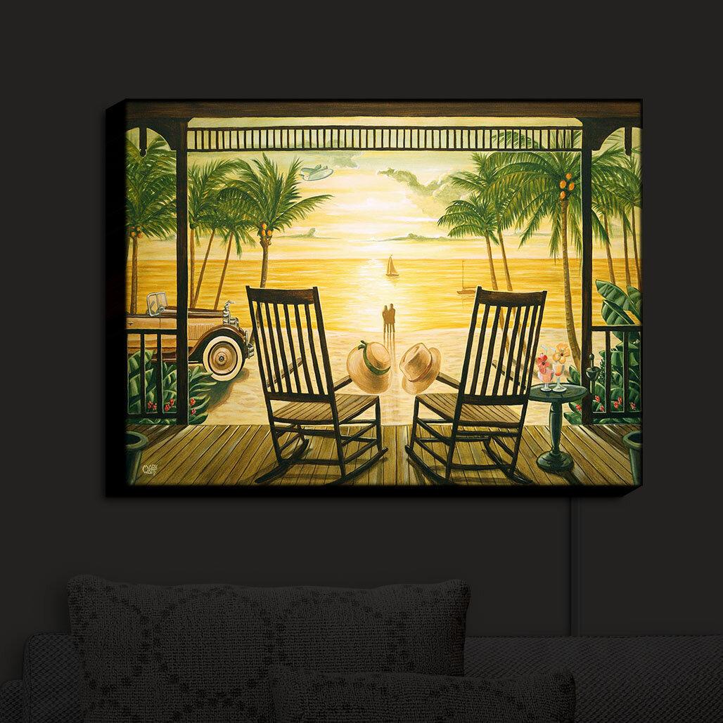 Bayou Breeze Sunset Serenade\' Print on Fabric | Wayfair