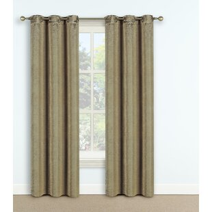 Steubenville Solid Max Blackout Thermal Grommet Single Curtain Panel by Winston Porter
