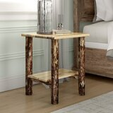 Tustin Solid Wood Nightstand in Med Brown