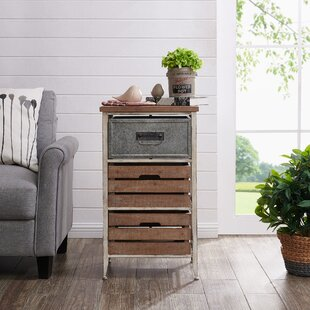 Epstein Crates 3 Drawer End Table
