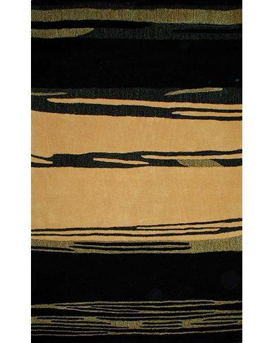 American Home Rug Co Bright Abstract Handmade Tufted Yellow Black Area Rug Wayfair