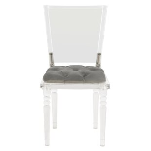 Loreen Acrylic Upholstered Dining Chair Everly Quinn
