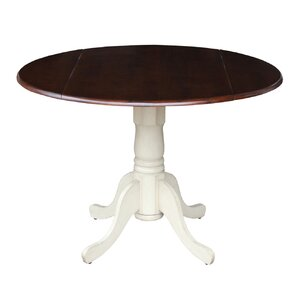 Carrie Round 42 Dual Drop Leaf Dining Table