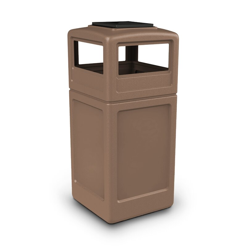 Commercial Zone Ashtray Square 42 Gallon Trash Can Wayfair