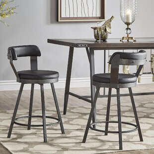Berrin 25.05 Swivel Bar Stool (Set of 2) Trent Austin Design