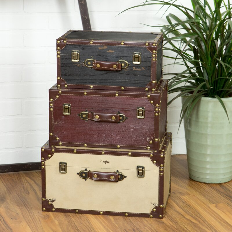 Lucasville 3 Piece Trunk Set