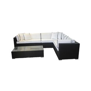 Tessa 6 Seater Rattan Corner Sofa Set With Cushion By Sol 72 Outdoor