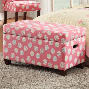 Harriet Bee Van Deluxe Upholstered Kids Bench with Storage
