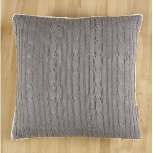 Cozy Cable Knit Throw Pillow Cover