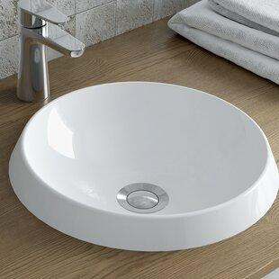 Best Rossini Polymarble Circular Vessel Bathroom Sink By Calma