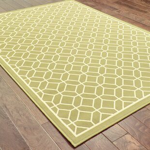 Liza Green/Ivory Indoor/Outdoor Area Rug