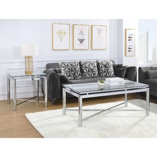 George Oliver Andres 2 Piece Coffee Table Set