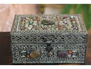 Repousse Brass Jewelry Box By Novica
