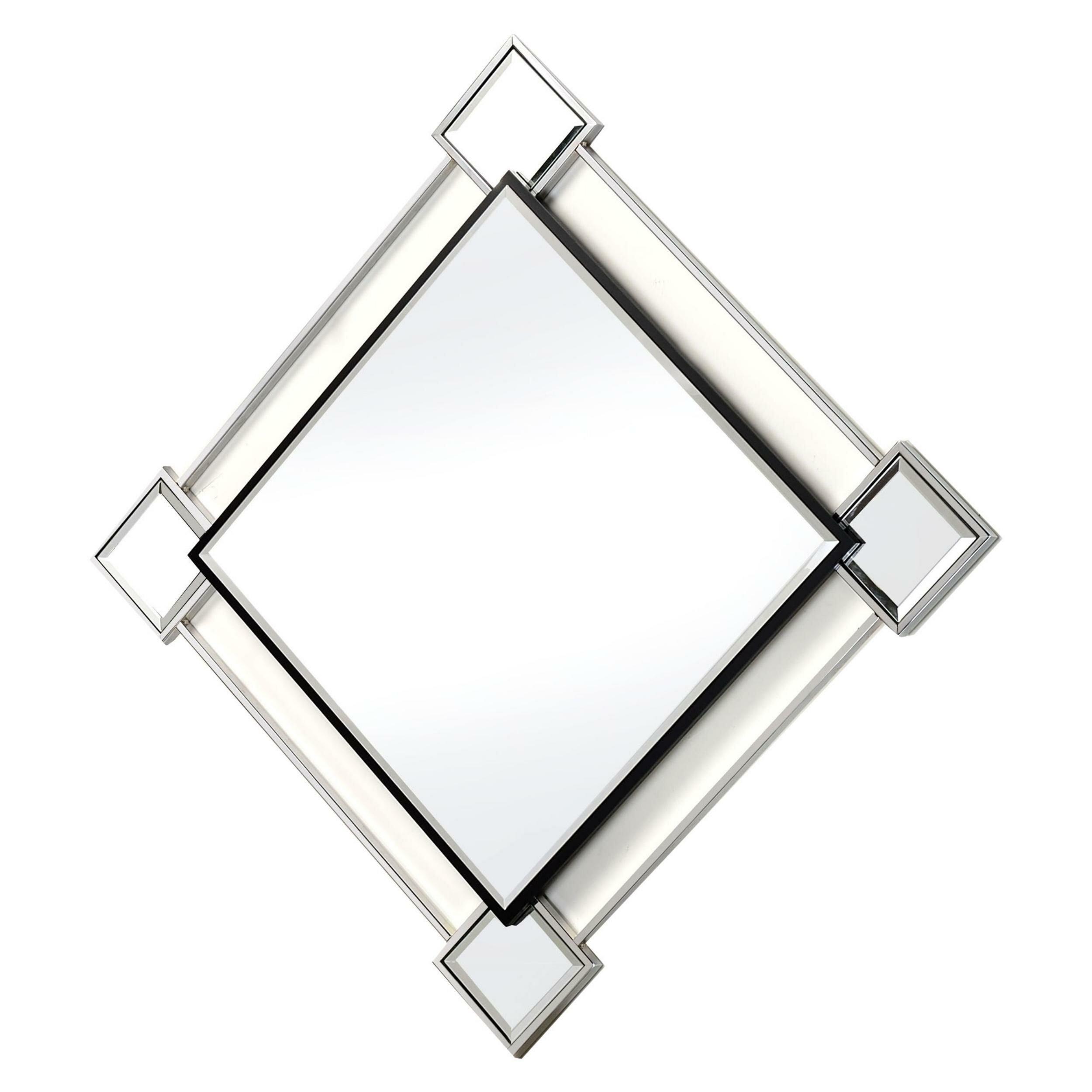 Orren Ellis Ventana Diamond Shaped Modern Beveled Accent Mirror Wayfair