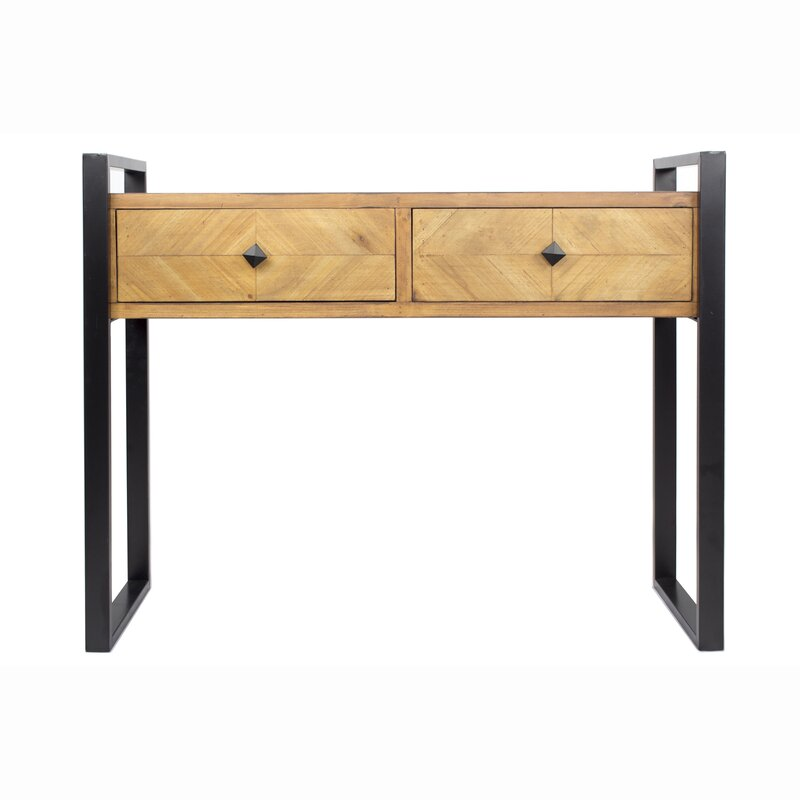17 Stories  Delphine 2 Drawer Console Table Color: Brown