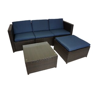 Pauletta 5 Piece Sofa Seating Group with Cushions