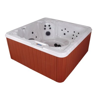 QCA Spas Havana Bay Luxury 8-Person 90-Jet Hot Tub with LED Light With Ozonator
