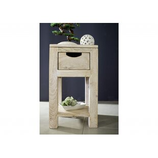 Nature Side Table With Storage By Massivmoebel24