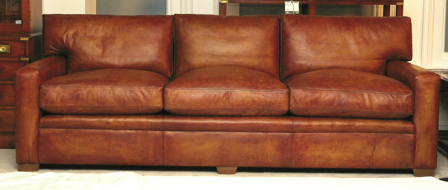 Leather Furniture Traveler Collection: Curzon Gallery Collection Armada Leather 4 Seater Sofa