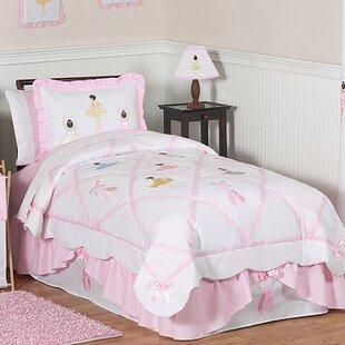 Sweet Jojo Designs Ballerina 100% Cotton 4 Piece Twin Comforter Set