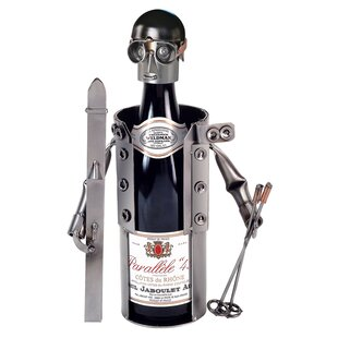 Skier 1 Bottle Tabletop Wine Rack by H & ..