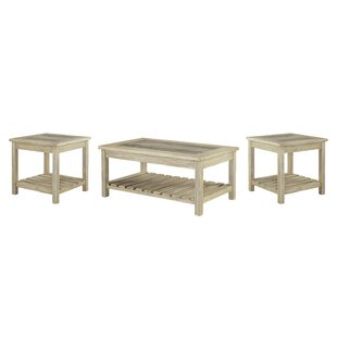 Beachcrest Home Briarwood 3 Piece Coffee Table Set