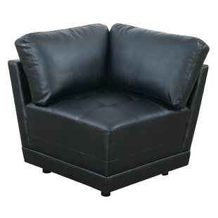 Chew Stoke Bonded Leather Corner Armchair by Ebern Designs