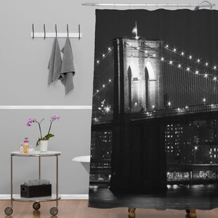 Leonidas Oxby Brooklyn Bridge 125 Single Shower Curtain