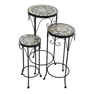 Deals 3 Pieces Nesting Plant Stand Set