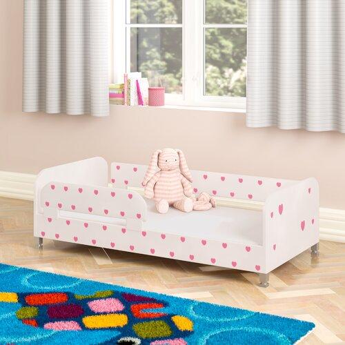 Einzelbett Nordville Farbe: Weiß/Rosa| Liegefläche: 70 cm x 140 cm | Schlafzimmer > Betten | Nordville