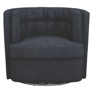 Suleman Diamond Shape Button Tufted Swivel Barrel Chair
