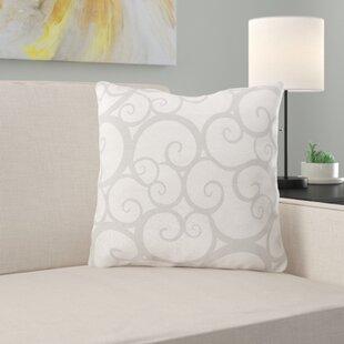 Mahone Gray Throw Pillow