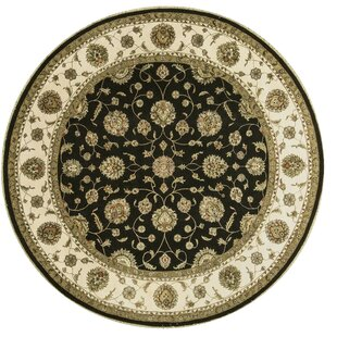 Searching for One-of-a-Kind Dharma Handwoven Round 10'2 Wool/Silk Beige/Black Area Rug By Bokara Rug Co., Inc.