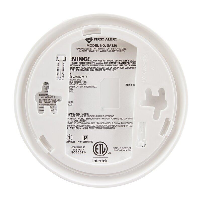 First Alert Dual Sensor Smoke Fire Alarm Wayfair