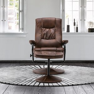Memphis Manual Swivel Recliner with Footstool