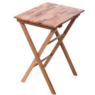 Tibo Laurel Mosaic Folding Wooden Bistro Table