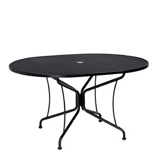 Premium Mesh Top Oval Umbrella Dining Table